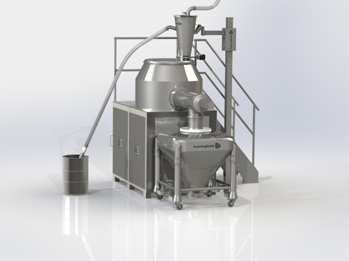 Vacuum Transfer into a High Shear Mixer