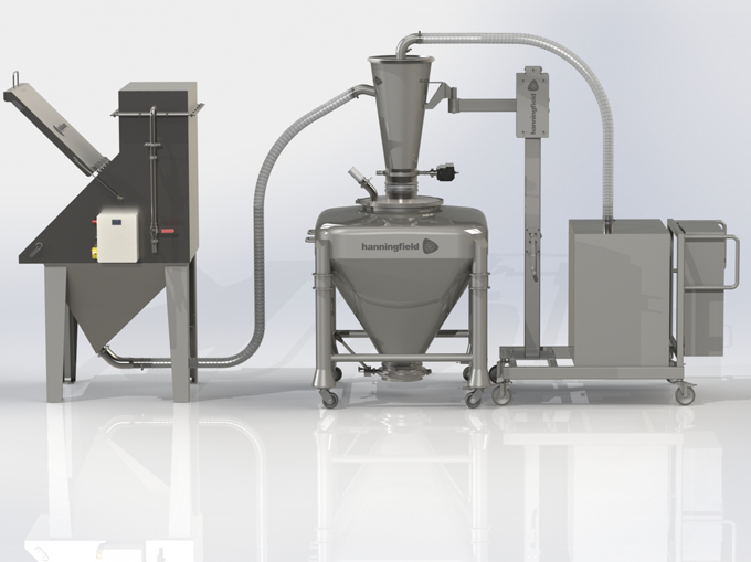 Sack-Tip Station Feeding Vacuum Conveyor