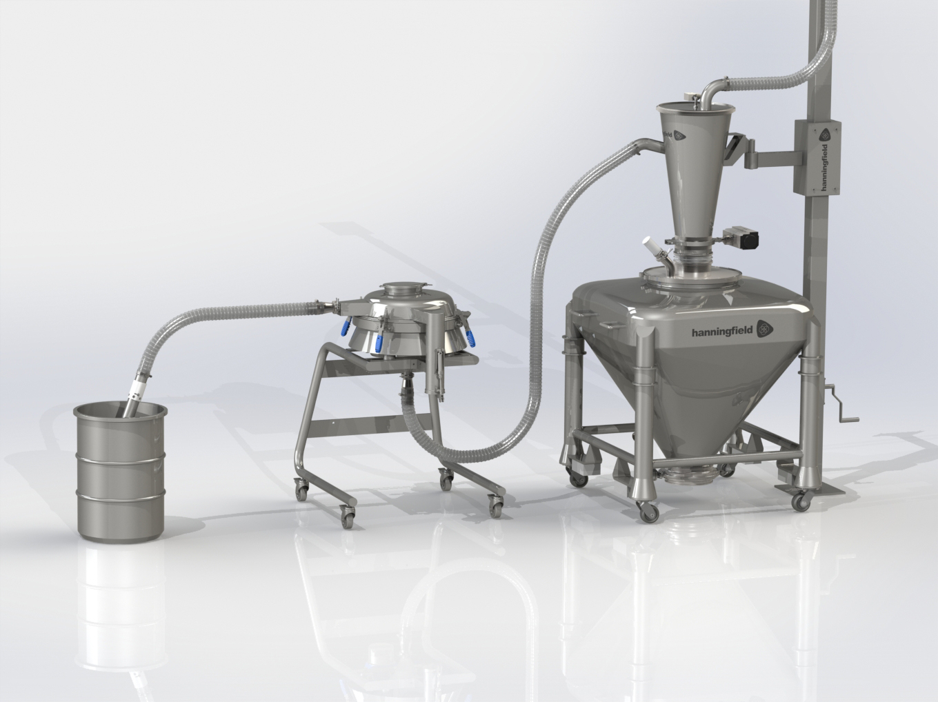 In-Line Vacuum Sieving